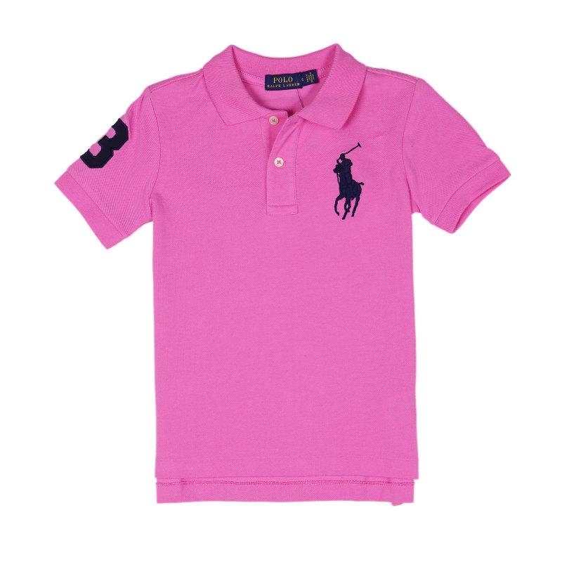ボーイズ 95-130cm ビッグポニー シンプル 鹿の子 メッシュ ポロ ラルフローレン POLO RALPH LAUREN Boys Pony 通販 激安 ポロシャツ Mesh Big Maui マウイ Polo 半袖 Pink ギフト Cotton ピンク Shirt