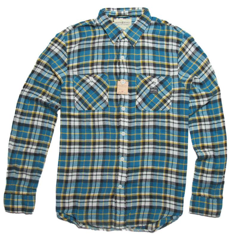 (デニム&サプライ ラルフローレン)Denim&Supply Ralph Lauren 長袖シャツ Ward Plaid Twill Shirt アストン Aston