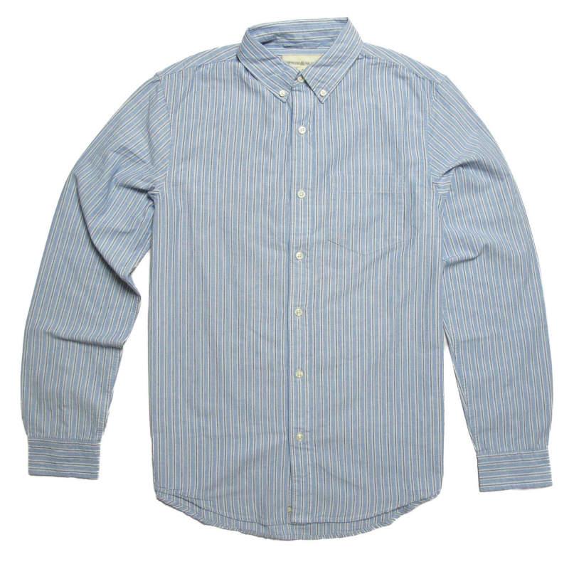 (デニム&サプライ ラルフローレン)Denim&Supply Ralph Lauren 長袖シャツ Striped Cotton Sport Shirt ウィーンストライプ Vienna Stripe