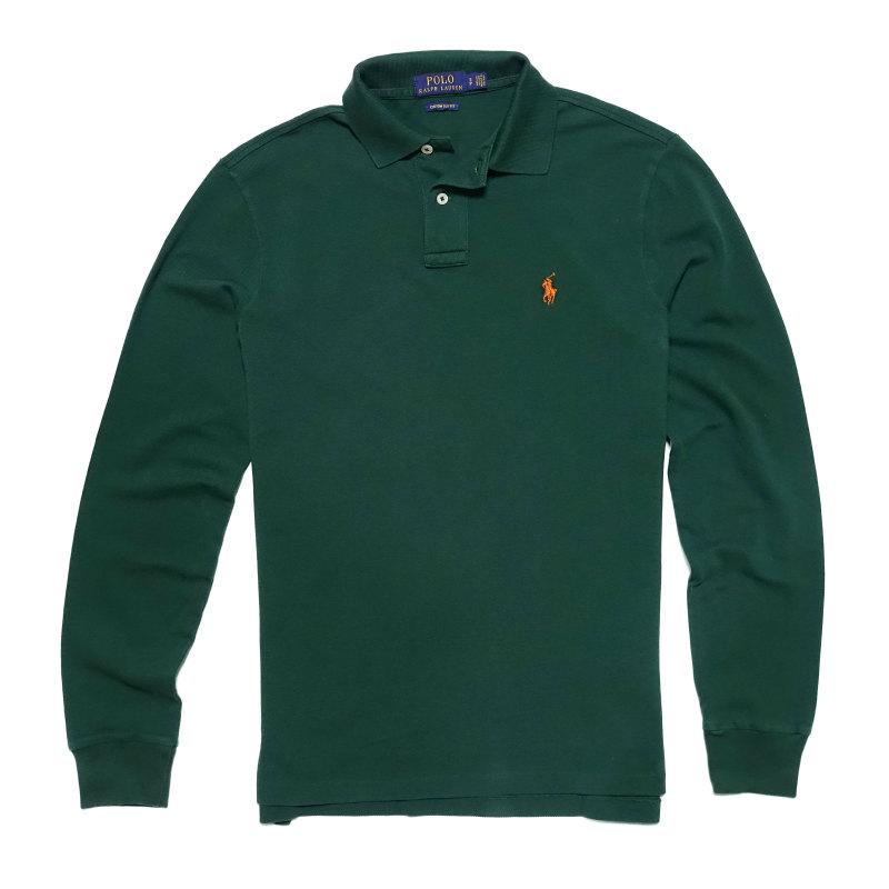 ポロ ラルフローレン POLO RALPH LAUREN メンズ Men's長袖 ポロシャツ Custom Slim Fit Mesh Polo ノースウエスト パイン Northwest Pine