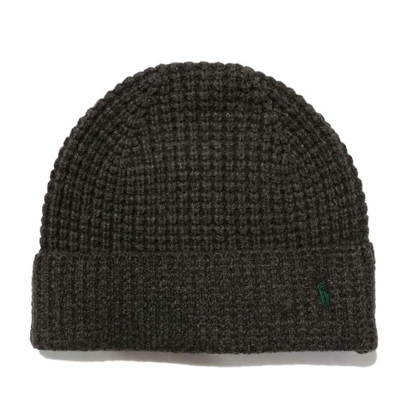 ポロ ラルフローレン POLO RALPH LAUREN メンズ Men's ニット帽 Waffle-Knit Merino Wool Hat ダーク ブラウン ヘザー Dark Brown Heather