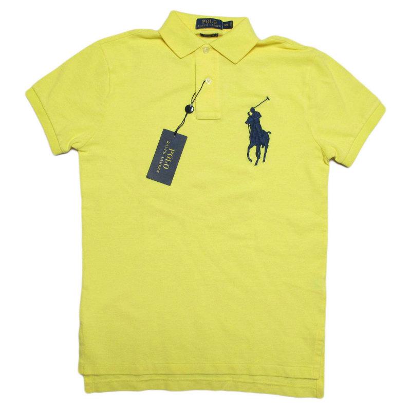ポロ ラルフローレン POLO RALPH LAUREN メンズ Men's 半袖 ポロシャツ Custom-Fit Big Pony Polo シアーレモン Sheer Lemon