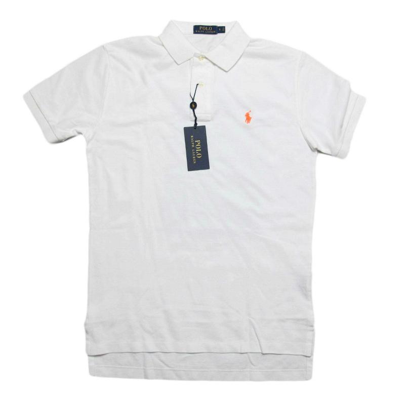 ポロ ラルフローレン POLO RALPH LAUREN メンズ Men's 半袖 ポロシャツ Classic-Fit Mesh Polo Shirt ホワイト White
