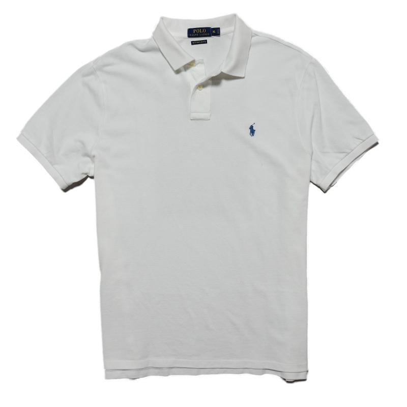 ポロ ラルフローレン POLO RALPH LAUREN メンズ Men's 半袖 ポロシャツ Custom Slim Weathered Polo ホワイト White