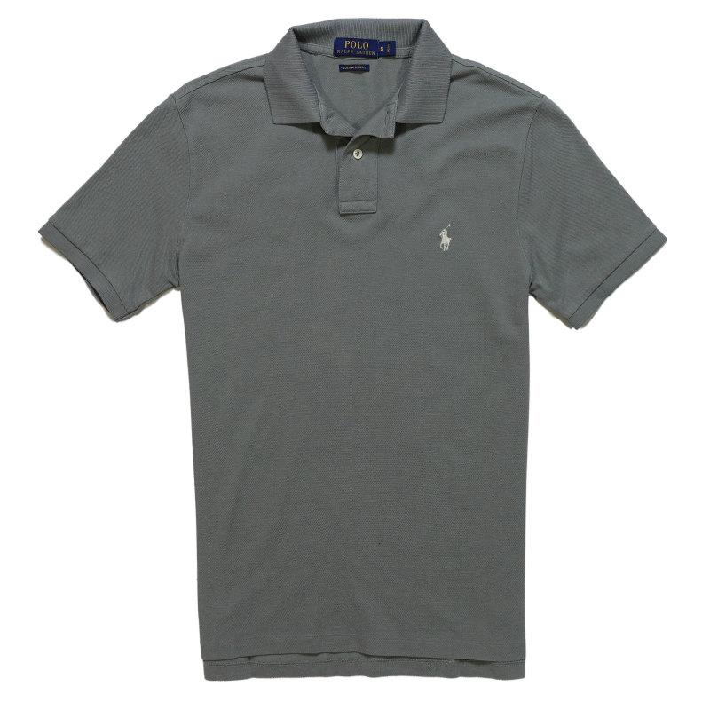 ポロ ラルフローレン POLO RALPH LAUREN メンズ Men's 半袖 ポロシャツ Custom Slim Weathered Polo グレー Grey