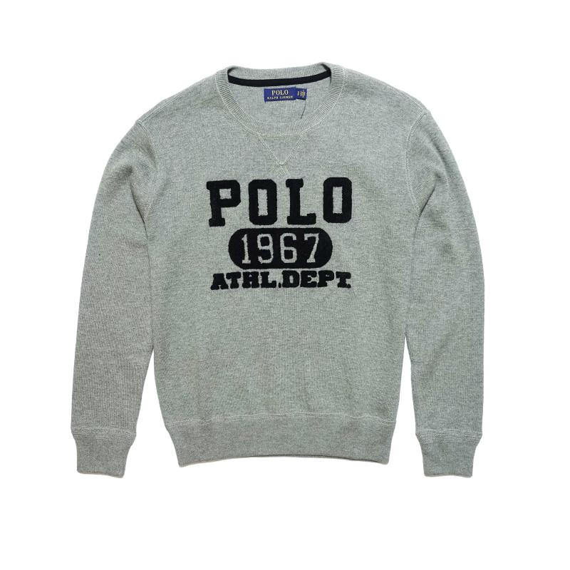 USサイズ S M L XL XXL 大きいサイズ Big 1着でも送料無料 Size ポロ ラルフローレン POLO セーター Fawn Men's LAUREN RALPH Sweater メンズ Heather グレー系 新色追加して再販 Cotton Grey Graphic