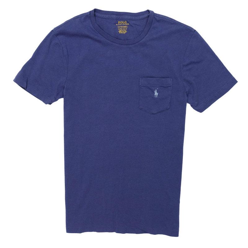 USサイズ S M L 在庫限り XL XXL 大きいサイズ ポロ 超人気 専門店 ラルフローレン POLO RALPH Navy T-Shirt Cotton ネイビー ライト Slim Custom Fit LAUREN 半袖Tシャツ Light