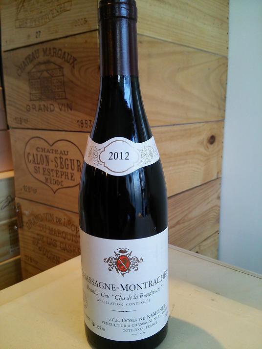 シャサーニュ・モンラッシェ・ブードリオット・ルージュ 2012ラモネChassagne Montrachet Boudriottes Rouge 2012Ramonet