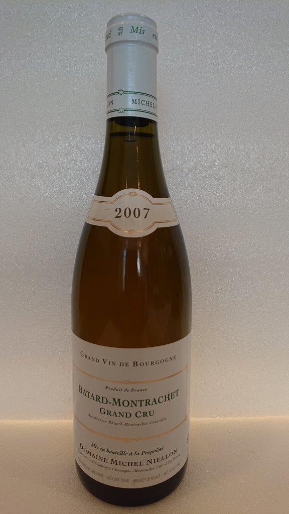 バタール・モンラッシェ 2007ミシェル・ニーロンBatard Montrachet 2007Michel Niellon2019年最終入荷ネックラベルに小さなキズあり
