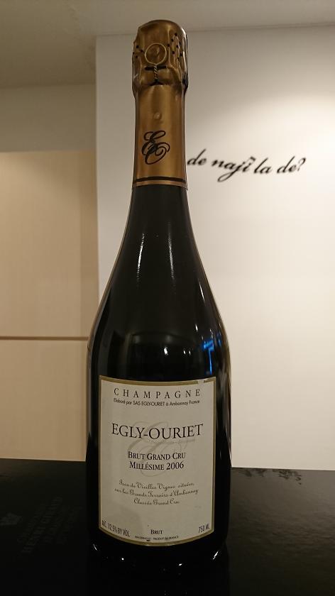 ブリュット・グラン・クリュ・ミレジメ 2006エグリ・ウーリエBrut Grand Cru Millesime 2006Egly Ouriet新入荷しました!