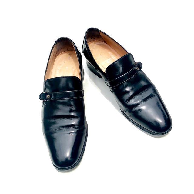 ☆【送料無料】【レア】TANINO CRISCI(タニノ・クリスチー) デザインレザーローファー(靴 シューズ)【中古】【2018ss】☆