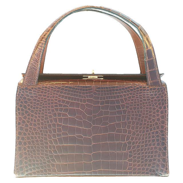 ☆【送料無料】【レア】G.BORRI 最高級 クロコダイル デザインハンドバッグ【中古】【美品】【2015aw】☆ 10P05Dec15バーゲン