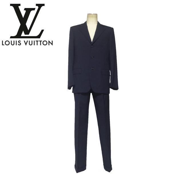 ☆【送料無料】【最高級】ルイヴィトン(Louis Vuitton) 3ボタン デザインメンズスーツ☆【2016ss】【中古】【美品】【Luxury Brand Selection】10P05Dec15, 鳥栖市:a73b3395 --- fvf.jp