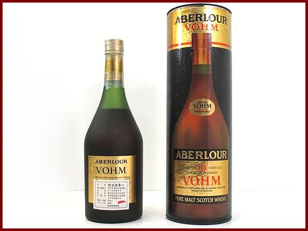 Kusu grade アベラワー 10 years V. O. H. M. official old bottle ABERLOUR 700ml / 43 times