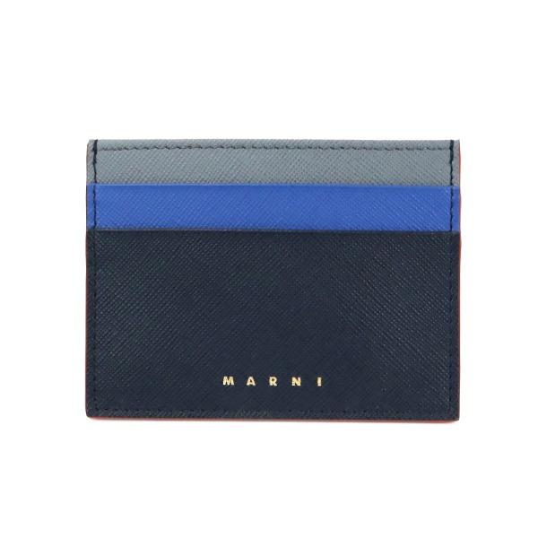 マルニ 超安い カード入れ カードホルダー 定期入れ 小物 本革 《最大800円クーポン》マルニ MARNI レディース マルチカラー ネイビー系 Z326T カードケース PFMOQ04U23 ブランド 男女兼用 レザー LV520