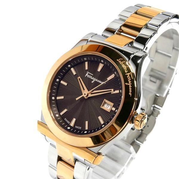 フェラガモ 女性用 腕時計 クォーツ お買い得 SSベルト 《オープン記念クーポン配布中》フェラガモ Ferragamo ブラウン×シルバー×ゴールド 33mm 1898 レディース腕時計 FF3300016 人気 おすすめ ブランド