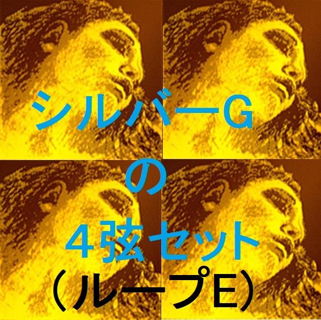 バイオリン弦 A G) ループE D Pirazzi 新Evah 4弦セット(E シルバーG