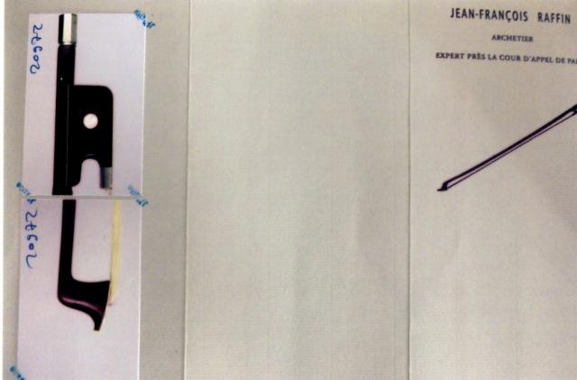 小提琴弓L Morizot fres N. 有法國製造♪鑒定書LEMAIRE 1950年♪