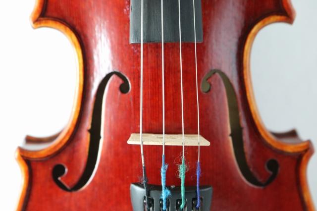 1/16サイズ バイオリン ハンドメイド高品質 ♪赤 レッド・ヴァイオリン♪
