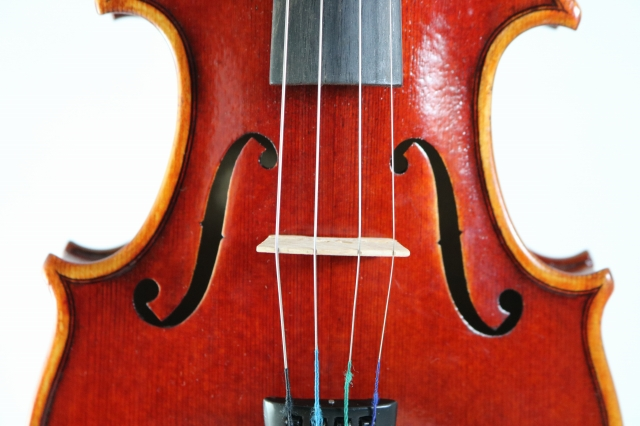 1/8サイズ バイオリン ハンドメイド 高品質 ♪赤 レッド・ヴァイオリン♪