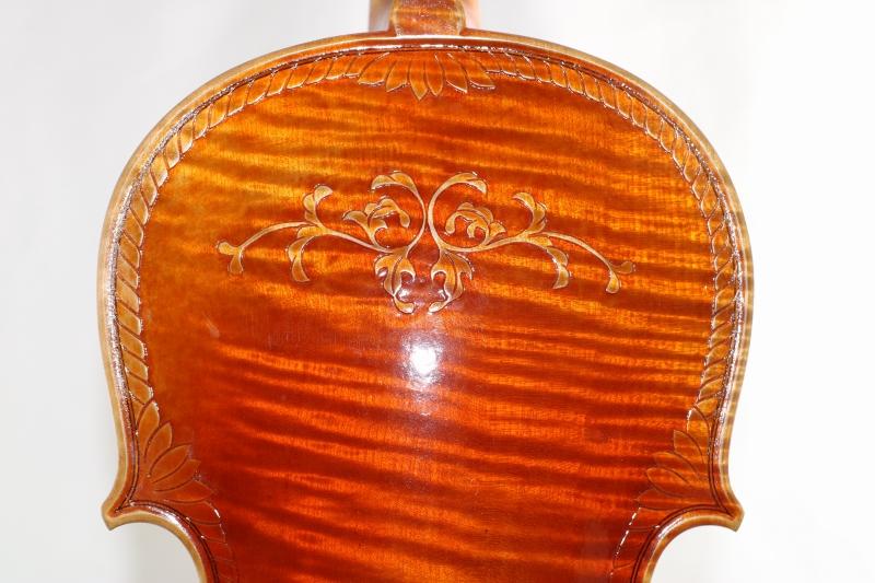 15インチ ヴィオラ ♪装飾ビオラ♪ 375mm オールド風仕上げニス Crafted Viola