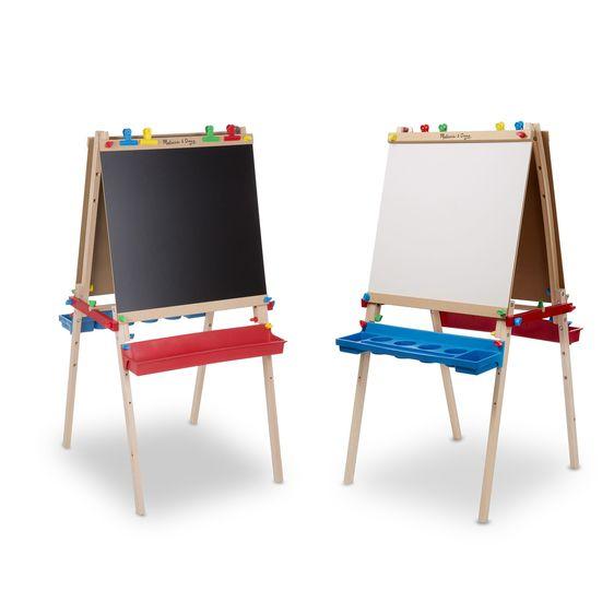 メリッサ&ダグ デラックス 木製 アート・イーゼル Melissa & Doug Deluxe Wooden Standing Art Easel