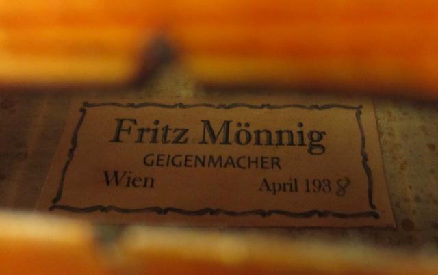 維也納Fritz Monnig 1938小提琴