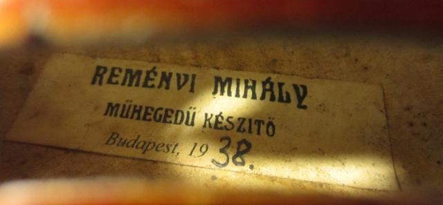 Mihaly Remenyi 1938 ブダペスト