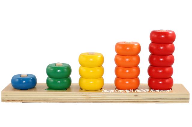 入荷予定 新品 モンテッソーリ 数字リングさし Montessori Number Dowel 知育玩具