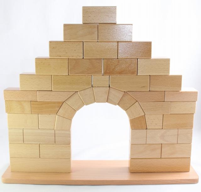 新作販売 モンテッソーリ ローマのアーチ Montessori Arch Roman 知育玩具 店舗