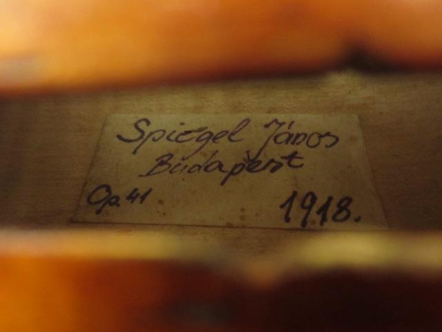 Spiegel Janos 1918 ブダペスト
