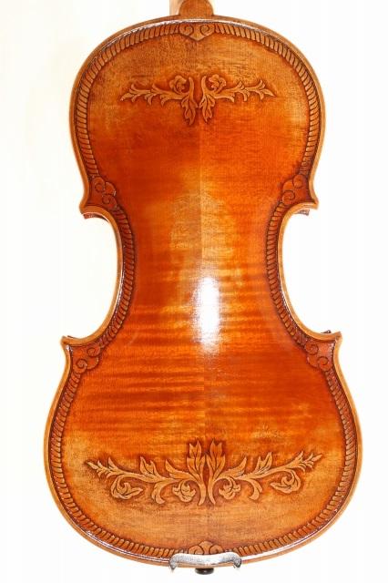 5弦バイオリン 4/4 英国王室紋様 ♪オールド仕上げ♪Royal English ストラディバリ