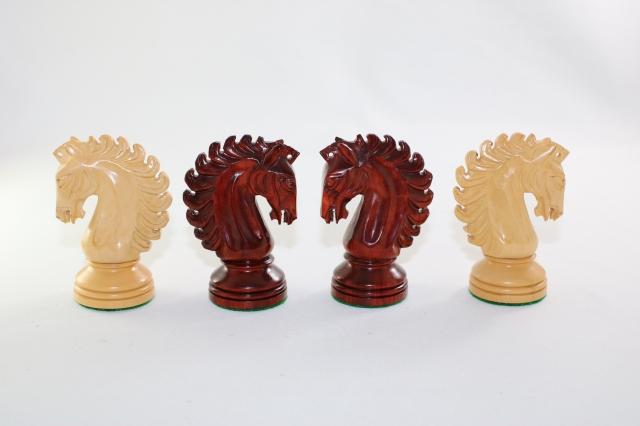 ハンドメイド高級 チェス駒セット ♪ウェストミンスター・モディファイド 柘植・インド紫檀♪  キング4.5インチ