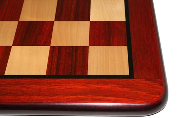 ハンドメイド高級 チェス・ボード(盤) ♪フラット・ラウンド・モデル インド紫檀・柘植♪  16インチ
