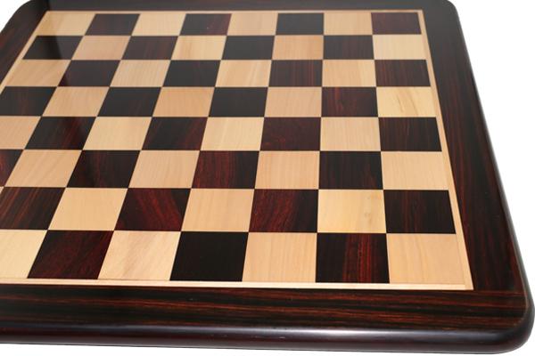 ハンドメイド高級 チェス・ボード(盤) ♪フラット・ラウンド・モデル 紫檀(ローズウッド)・柘植♪  20インチ