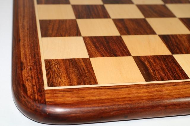 ハンドメイド高級 チェス・ボード(盤) ♪フラット・ラウンド・モデル 紫檀・柘植♪  20インチ