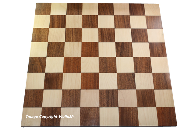 ハンドメイド高級 チェス・ボード(盤) ♪ダブルサイド(両面) アカシア・柘植♪  18インチ
