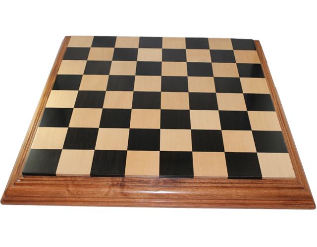 ハンドメイド高級 チェス・ボード(盤) ♪台座モデル 黒檀・柘植・アカシア♪  21インチ