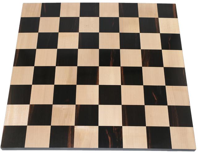 ハンドメイド高級 チェス・ボード(盤) ♪黒檀・柘植、スペシャル♪  18インチ