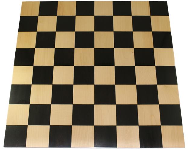 ハンドメイド高級 チェス・ボード(盤) ♪ダブルサイド(両面) 黒檀・柘植♪  18インチ