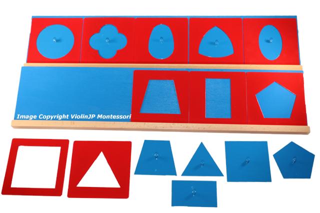 モンテッソーリ 値引き メタルインセッツ スムーズに楽しく図形を描ける 木製台付き 幾何図形パズル Montessori Metal 百貨店 知育玩具 Insets