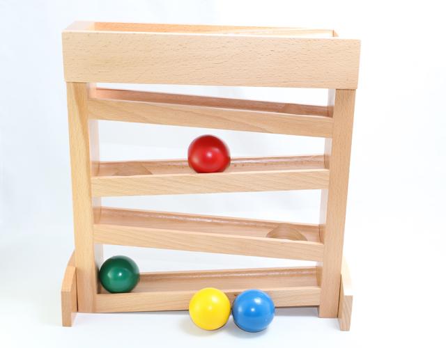 モンテッソーリ 木製ボール・トラッカー Montessori Ball Tracker 知育玩具