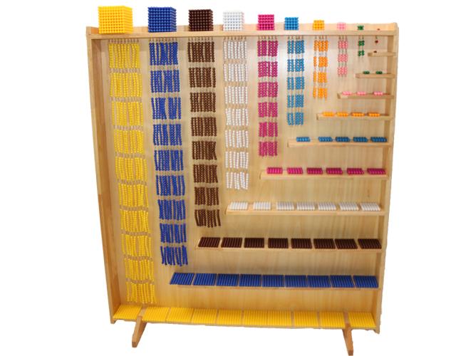 モンテッソーリ ビーズキャビネットとビーズ・セットMontessori Set of Complete Bead Materials and Cabinet 知育玩具