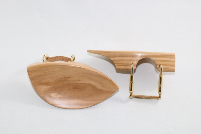 あご当て イタリアン・オリーブウッド Zitsman型 通常ゴールド金具