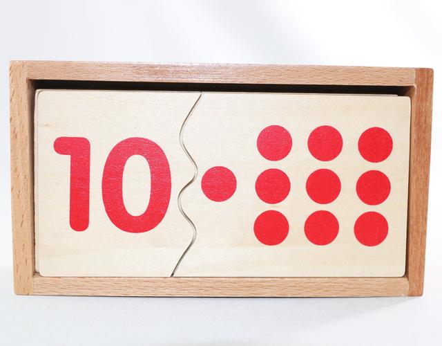 モンテッソーリ 木製数字パズル 全品送料無料 Montessori Number Puzzle 初回限定 知育玩具