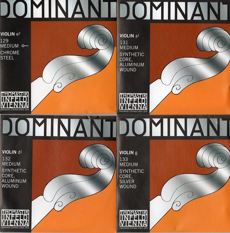 国内正規総代理店アイテム 4弦セット バイオリン弦 ドミナント Dominant 箱入り135B G Dアルミ 再販ご予約限定送料無料 E A
