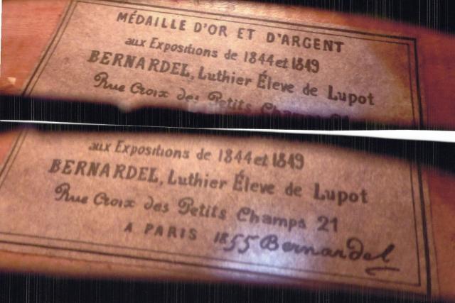 オールド・フレンチ・ラベル・バイオリン de Luthier Lupot Eleve BERNARDEL,