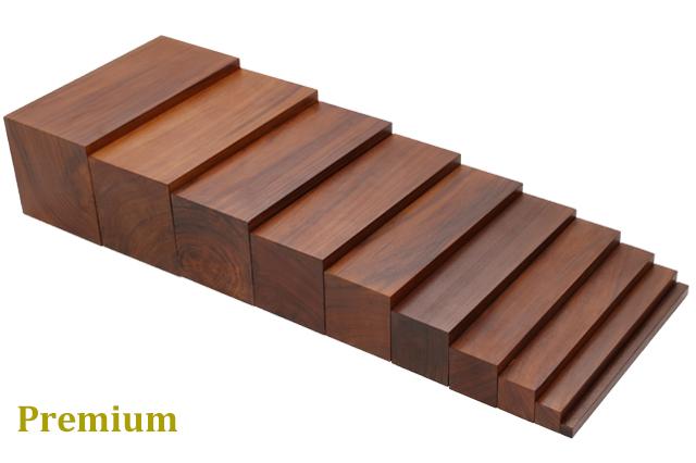 【プレミアム・ライン】モンテッソーリ 茶色い階段  ♪ポリッシュ仕上げ♪  Montessori Brown Stairs 知育玩具