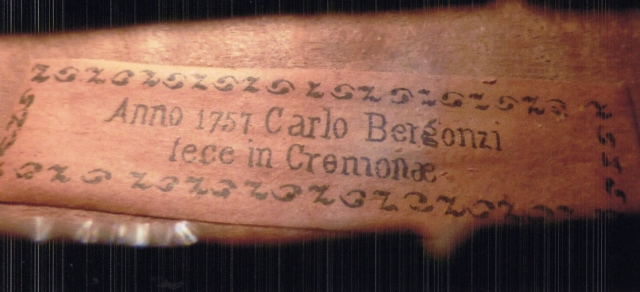Carlo Bergonzi 1757 イタリアン・ラベル・バイオリン