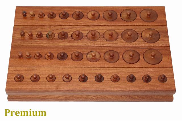 【プレミアム・ライン】 モンテッソーリ 円柱さし ♪大♪ Montessori シリンダー・ブロック 知育玩具